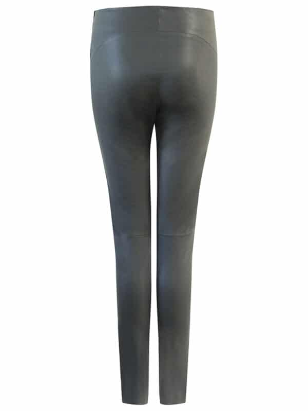 Amy leggings w. zipper back black
