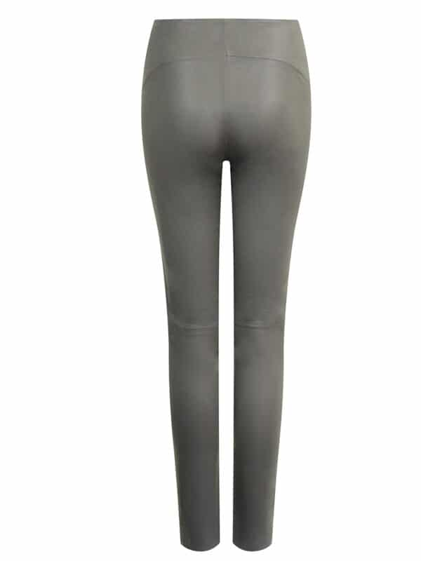 Amy leggings w. zipper back grey