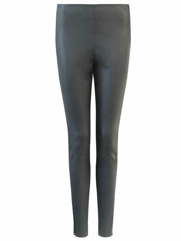 Amy leggings w. zipper black front