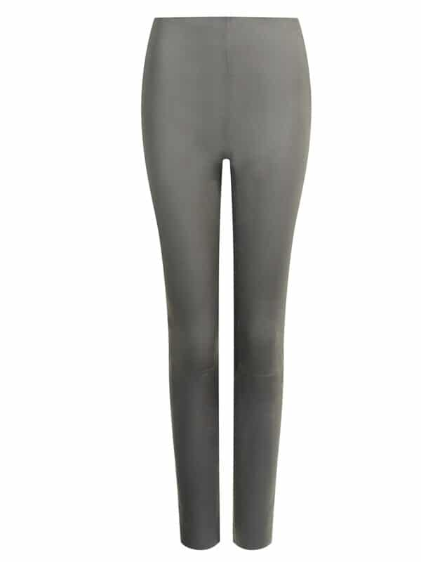 Amy leggings w. zipper grey front