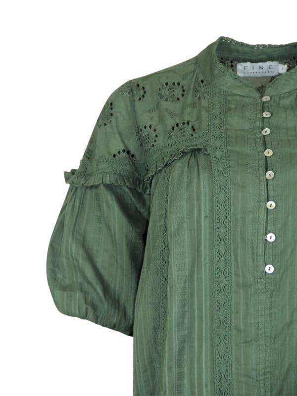 Blanka dress army detail