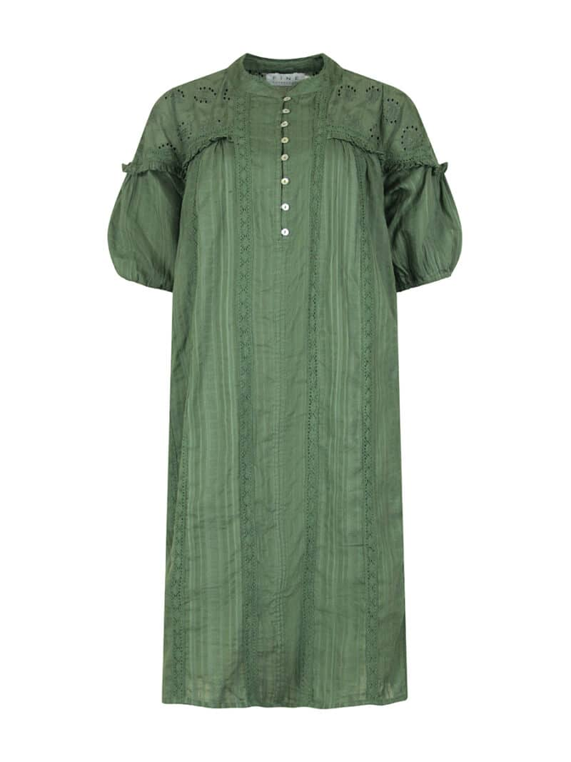 Blanka dress army front
