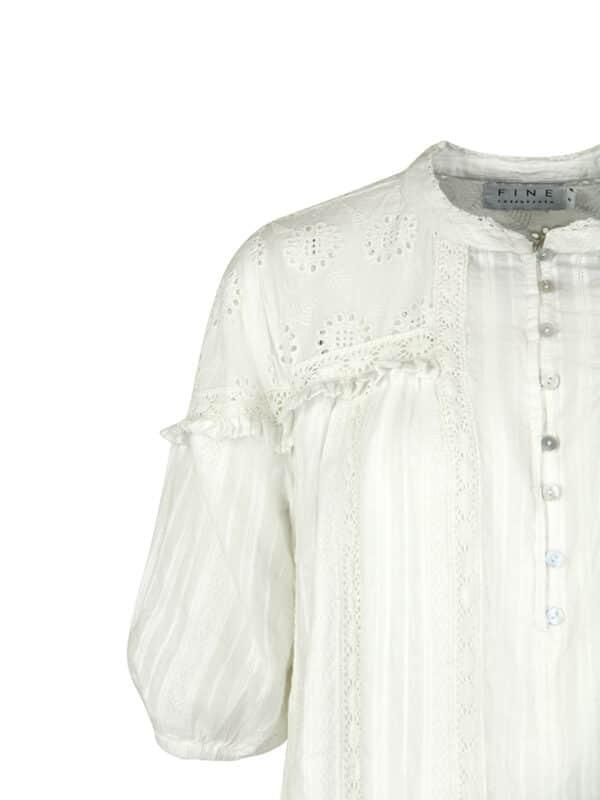 Blanka dress white detail