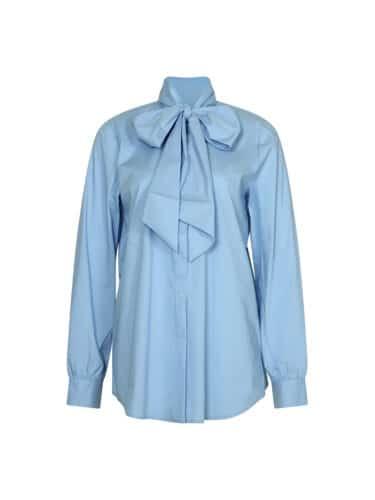 Shadow tie shirt light blue