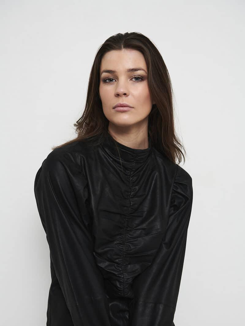 Nappa wrinkle blouse